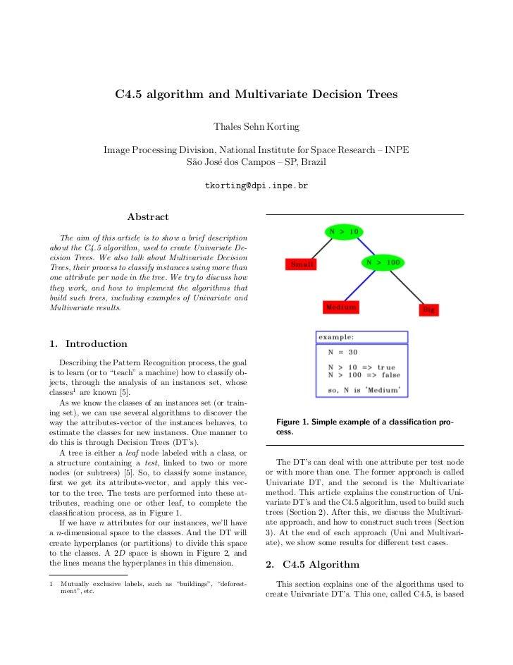 Multivariate decision tree