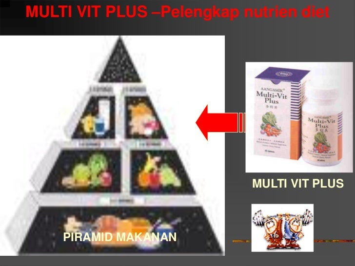 MULTI VIT PLUS –Pelengkap nutrien diet                                 MULTI VIT PLUS        PIRAMID MAKANAN