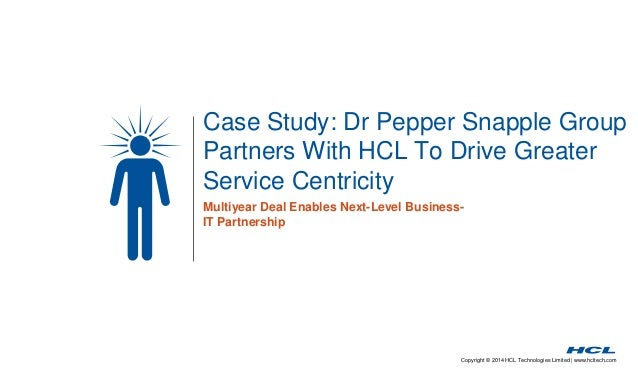 Multiyear deal enables greater service centricity for dr pepper snapple group