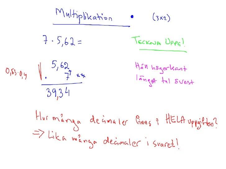 Mult och div med decimaltal