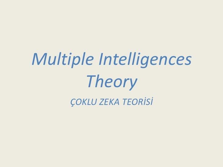 Multıple intelligences theory   kopya