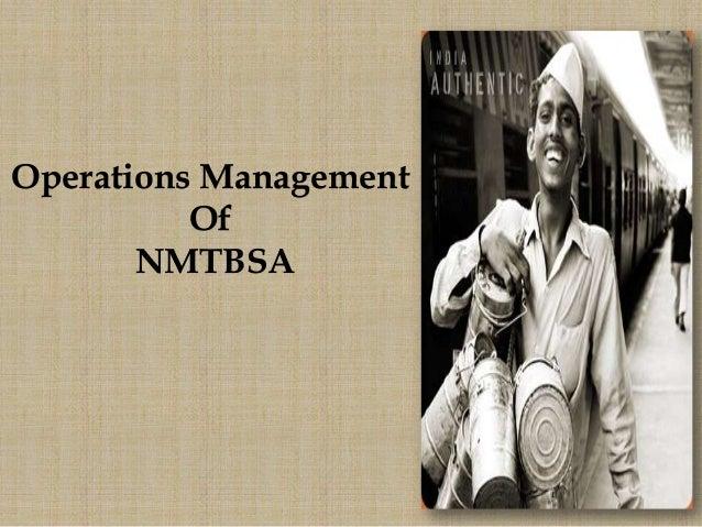 Operations ManagementOfNMTBSA