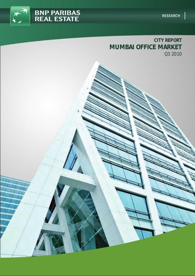 CITY REPORT MUMBAI OFFICE MARKET Q3 2010