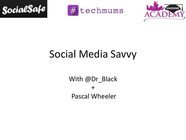 Social Media Savvy With @Dr_Black + Pascal Wheeler