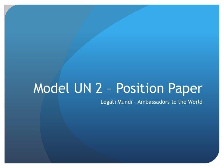 Position paper example model un