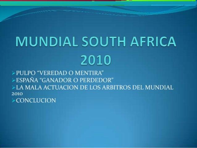 Mundial south africa 2010