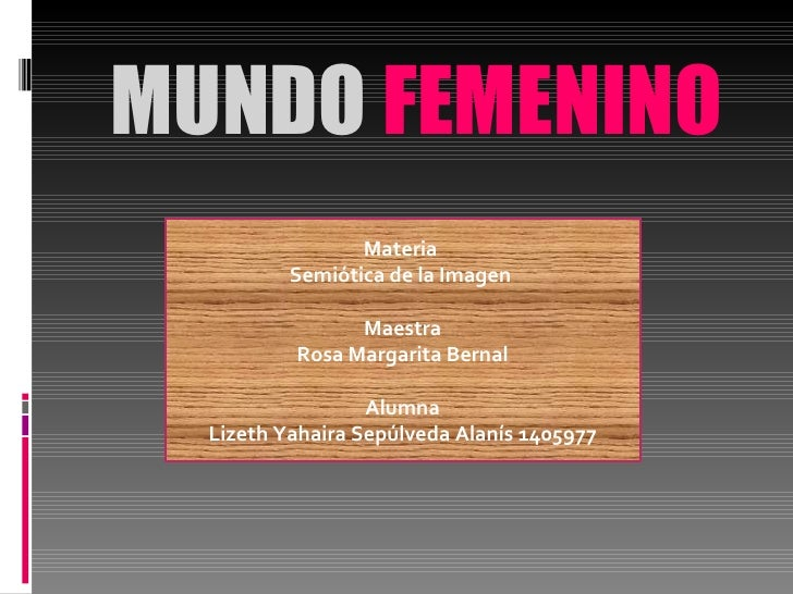 Mundo femenino