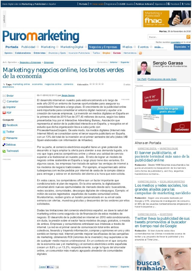 DiarioDigitalLíderdeMarketing y PublicidadenEspañol Portada Iniciarsesión Registrarse 13.038 Usuarios PublicarArtí...