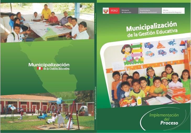 MUNICIPALIZACION DE LA EDUCACION