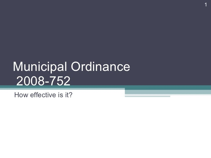 Municipal Order 2008-752