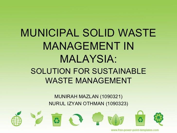 dissertations on waste management