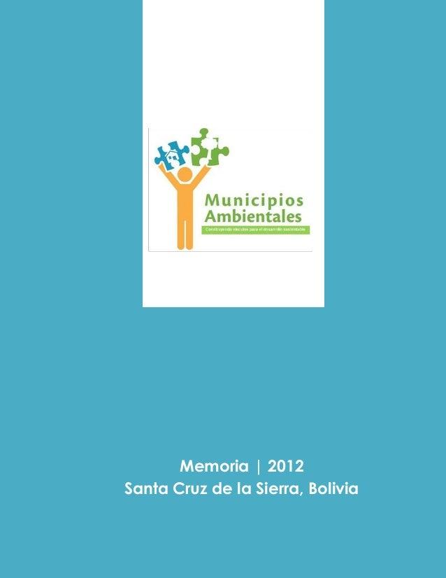 Municipios ambientales 2012