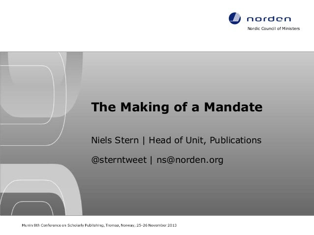 The Making of a Mandate. A Regional Approach to Open Access