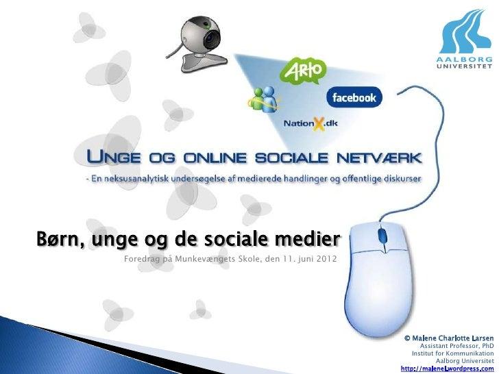 Børn, unge og de sociale medier