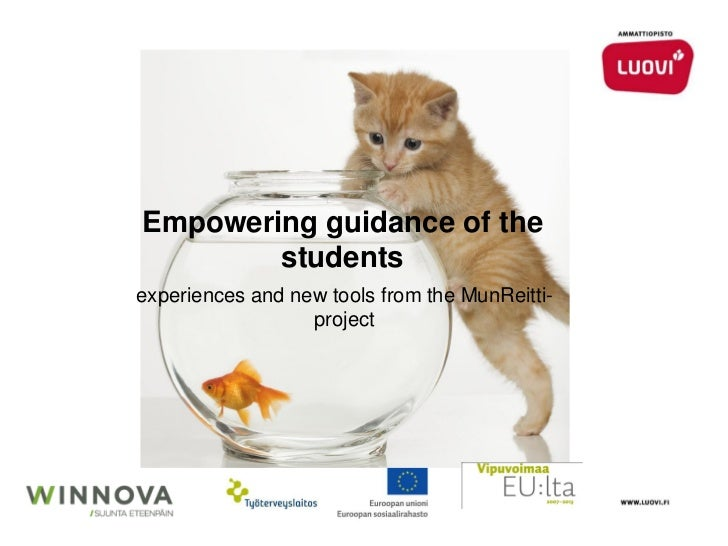 Empowering guidance of the        studentsexperiences and new tools from the MunReitti-                  project