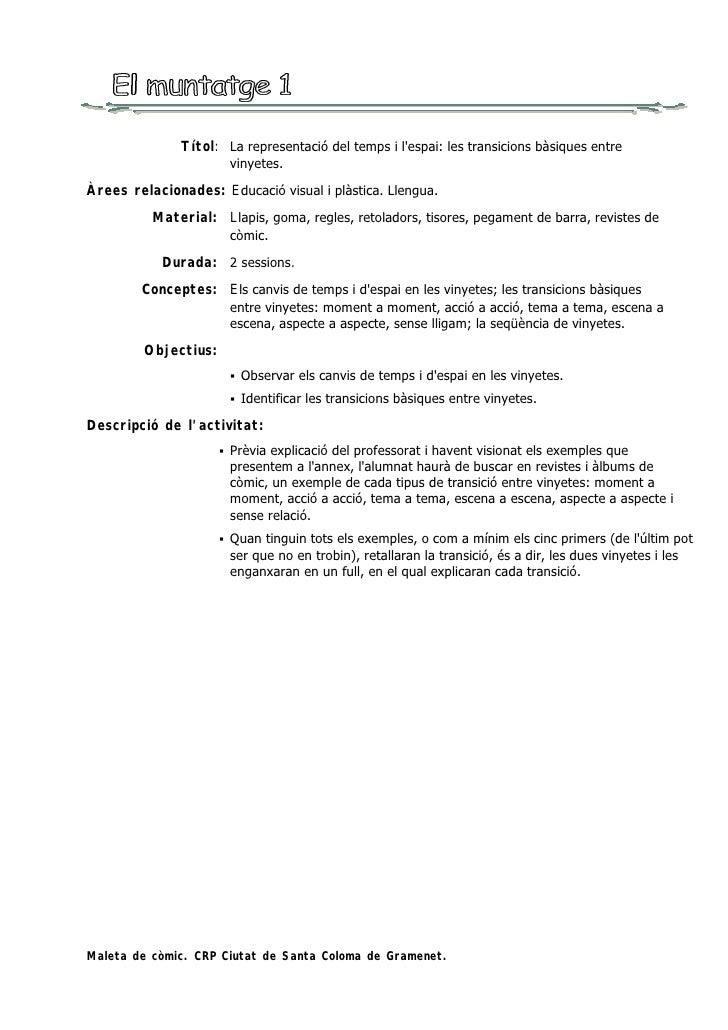 Títol: La representació del temps i l'espai: les transicions bàsiques entre                           vinyetes. Àrees rela...