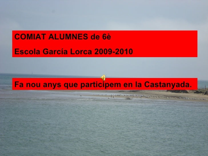 A Pàrvuls vam celebrar totes les festes. Fa nou anys que participem en la Castanyada. COMIAT ALUMNES de 6è Escola García L...