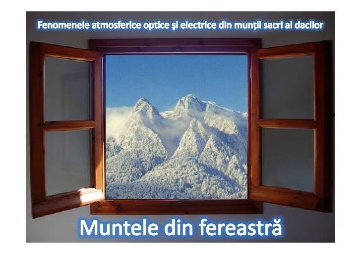 Muntele din fereastră
