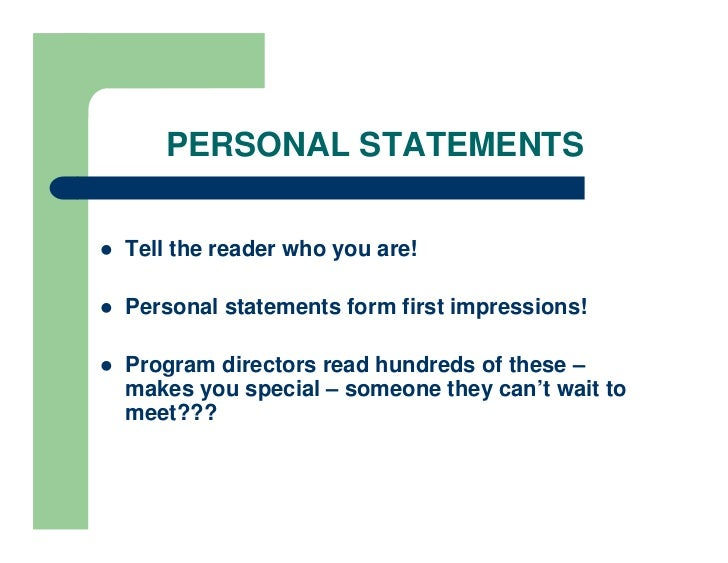 find out how to write the perfect personal statement In both cases, the good personal statement carefully balances its author's  how  do you plan to get there, and how does this particular program fit into that plan  drafting once you've thought about your history and your goals, start writing.