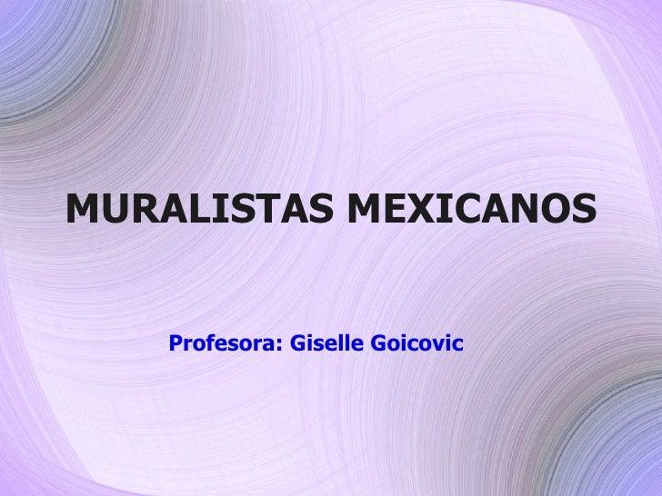 Muralistas mexicanos