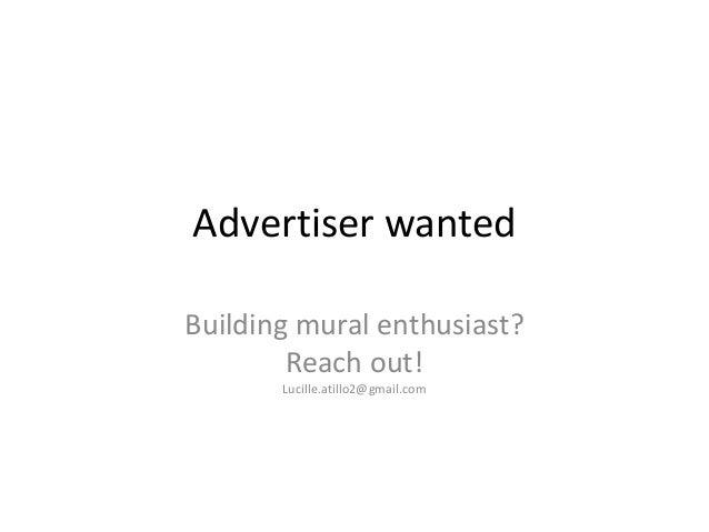 Building Muralist wanted