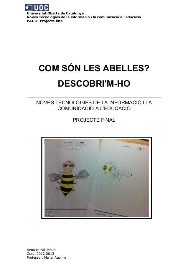 Universitat Oberta de CatalunyaNoves Tecnologies de la informació i la comunicació a l'educacióPAC 3- Projecte finalCOM SÓ...