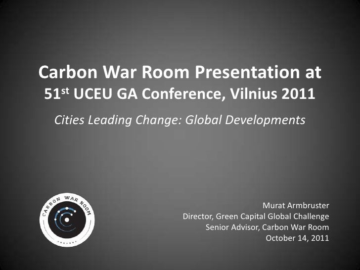 UCEU Vilnius Carbon War Room Presentation