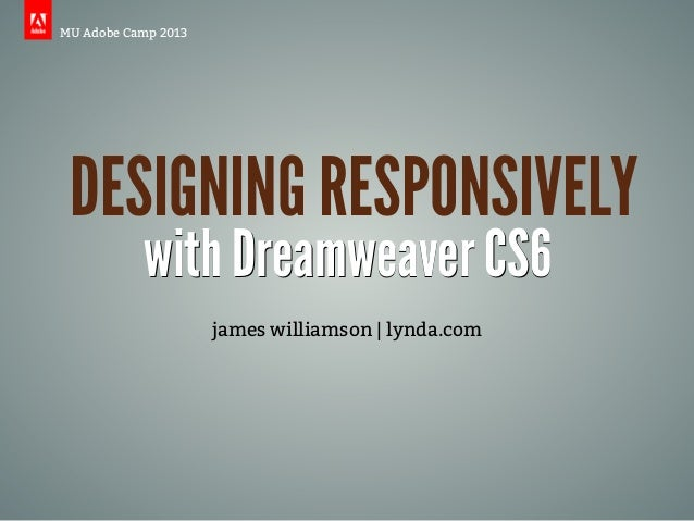 Designing Responsively with Dreamweaver