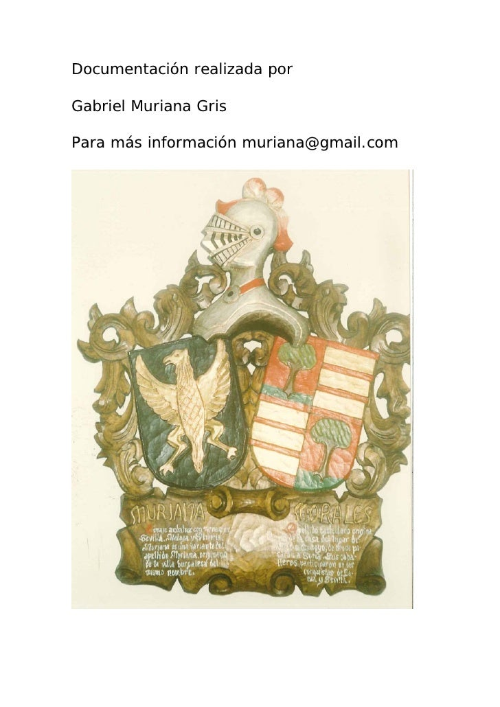 Documentación realizada por  Gabriel Muriana Gris  Para más información muriana@gmail.com