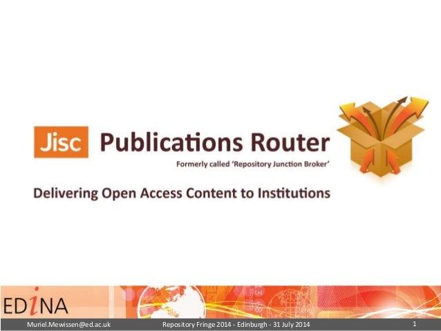 Jisc Publications Router