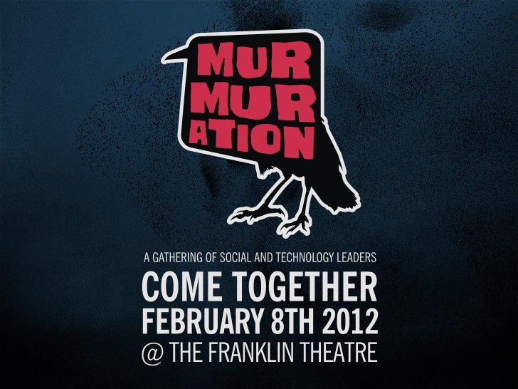 """Murmuration 2012 Introduction"" by James Soto"