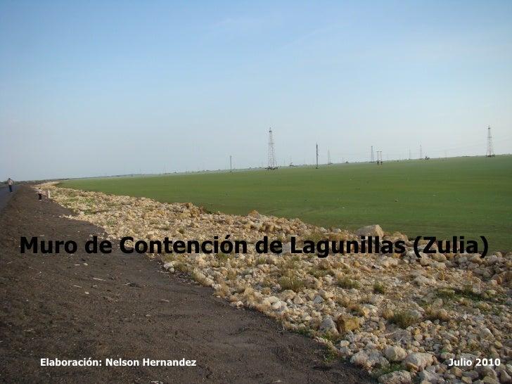 Muro de Contención de Lagunillas (Zulia) Elaboración: Nelson Hernandez Julio 2010