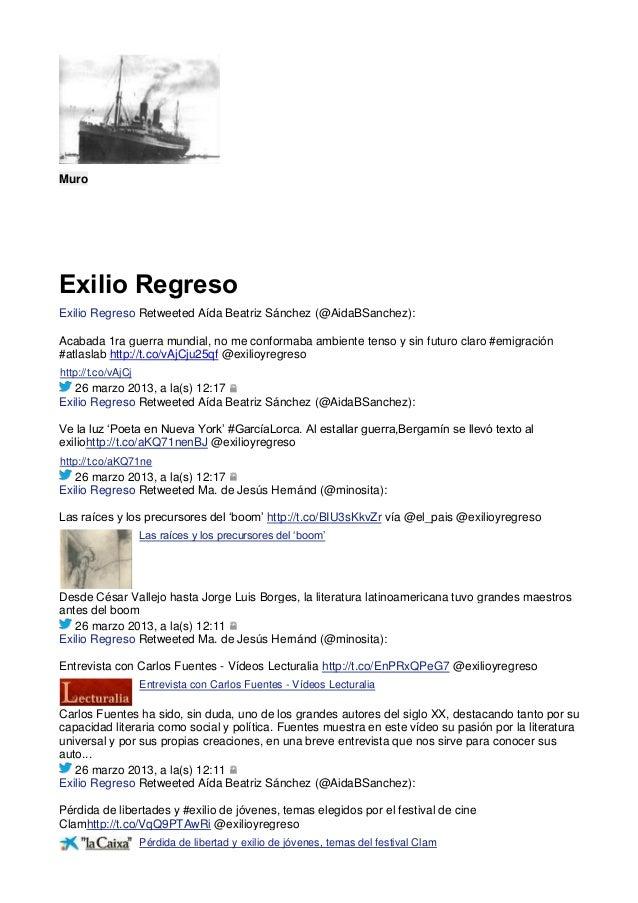 MuroExilio RegresoExilio Regreso Retweeted Aída Beatriz Sánchez (@AidaBSanchez):Acabada 1ra guerra mundial, no me conforma...