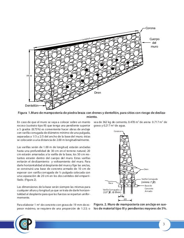Muros de contenci n manual de como aserlos - Muros de contencion de piedra ...
