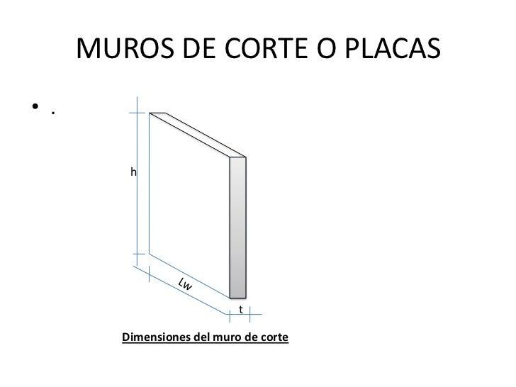 Muros de corte o placas