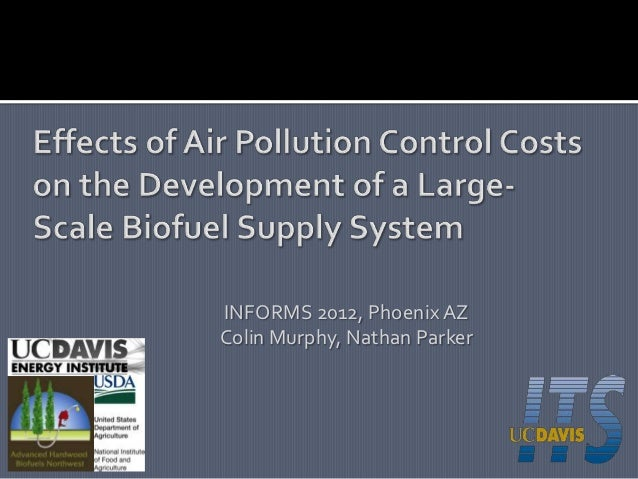 Murphy parker cost of air pollution control for biofuel
