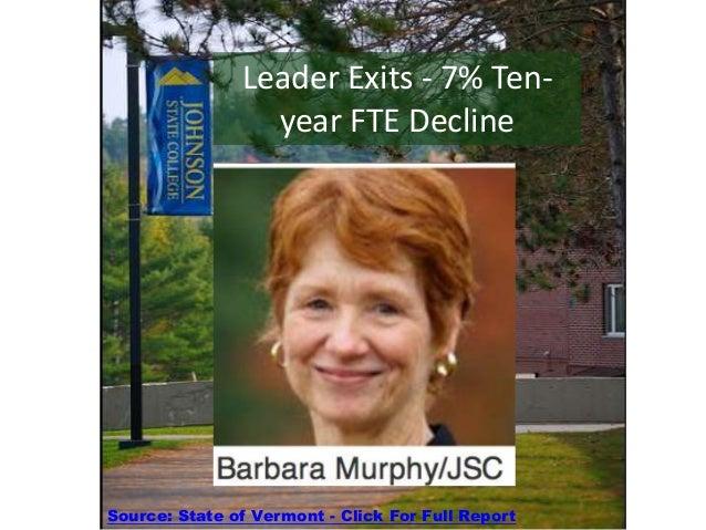 President Barbara Murphy Resigns - Job Cuts Loom