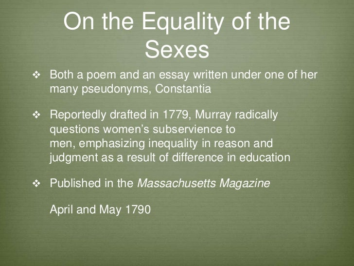 Equality of sexes