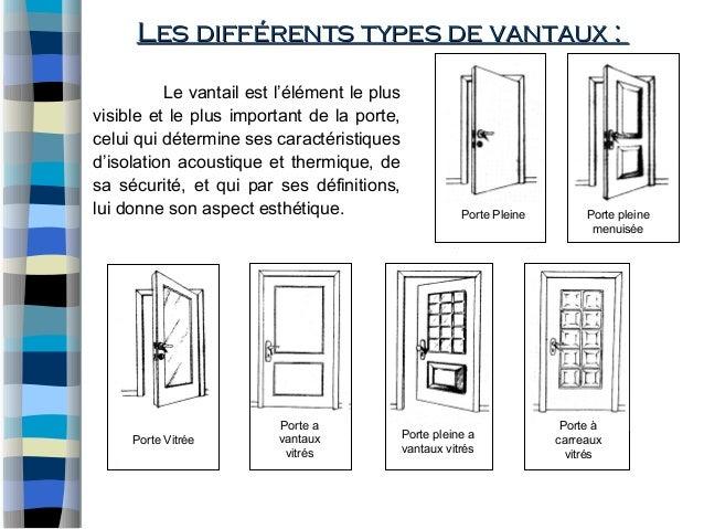 Murs rideaux et menuiserie for Type de porte