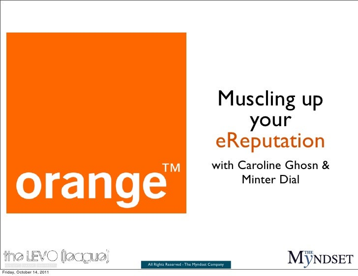 Muscling up your e-reputation