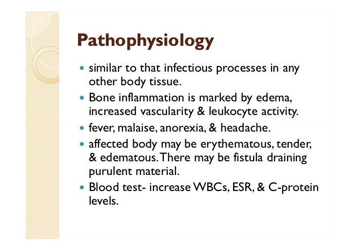 pathophysiology for chronic osteomyelitis