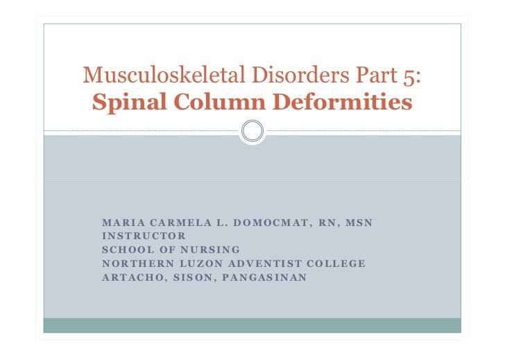 Spinal Column Deformities