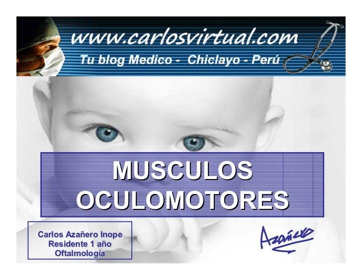 MUSCULOS         OCULOMOTORES Carlos Azañero Inope   Residente 1 año      Dr. Carlos Augusto Azañero Inope     Oftalmologí...