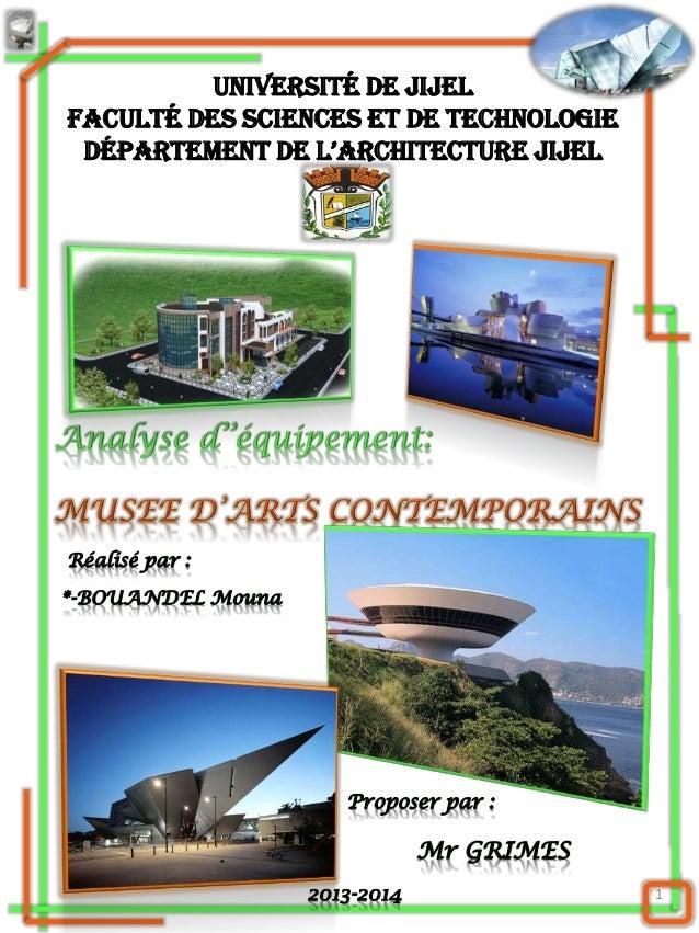 1 Université de Jijel Faculté des Sciences et de Technologie Département De l'architecture JiJel Réalisé par : *-BOUANDEL ...