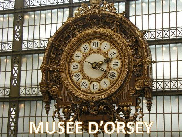 Un musée dans une gare Situé au cœur de Paris, le long de la Seine, face au jardin des Tuileries, le musée a pris place da...