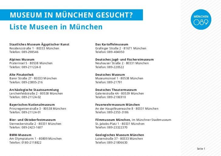 Museum in münchen gesucht?Liste Museen in MünchenStaatliches Museum Ägyptischer Kunst    Das KartoffelmuseumResidenzstraße...