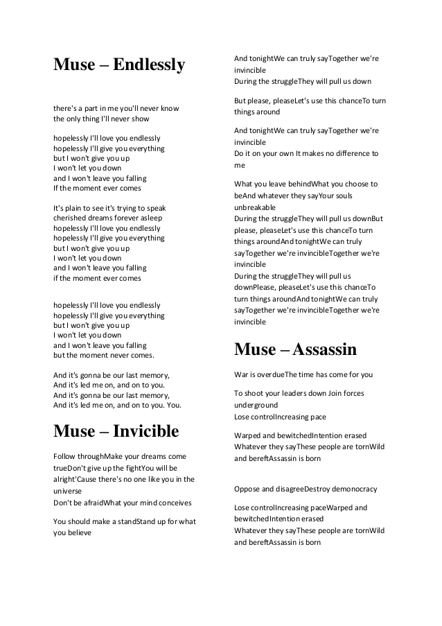 Muse lyric