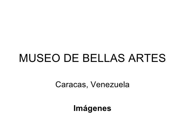 MUSEO DE BELLAS ARTES Caracas, Venezuela Imágenes