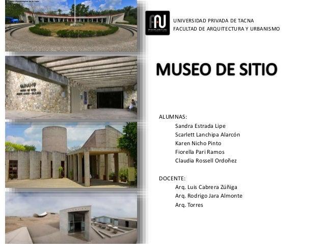 Museo de sitio for Sitios web de arquitectura
