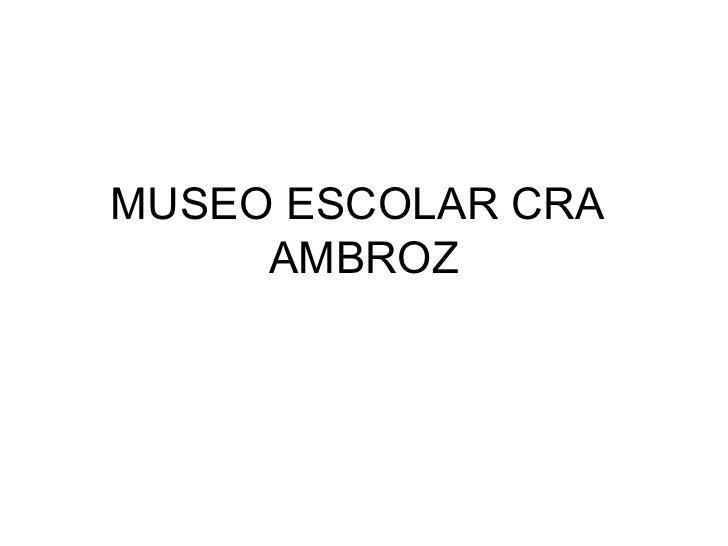 MUSEO ESCOLAR CRA  AMBROZ